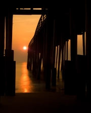 Sunrise at Kitty Hawk Pier