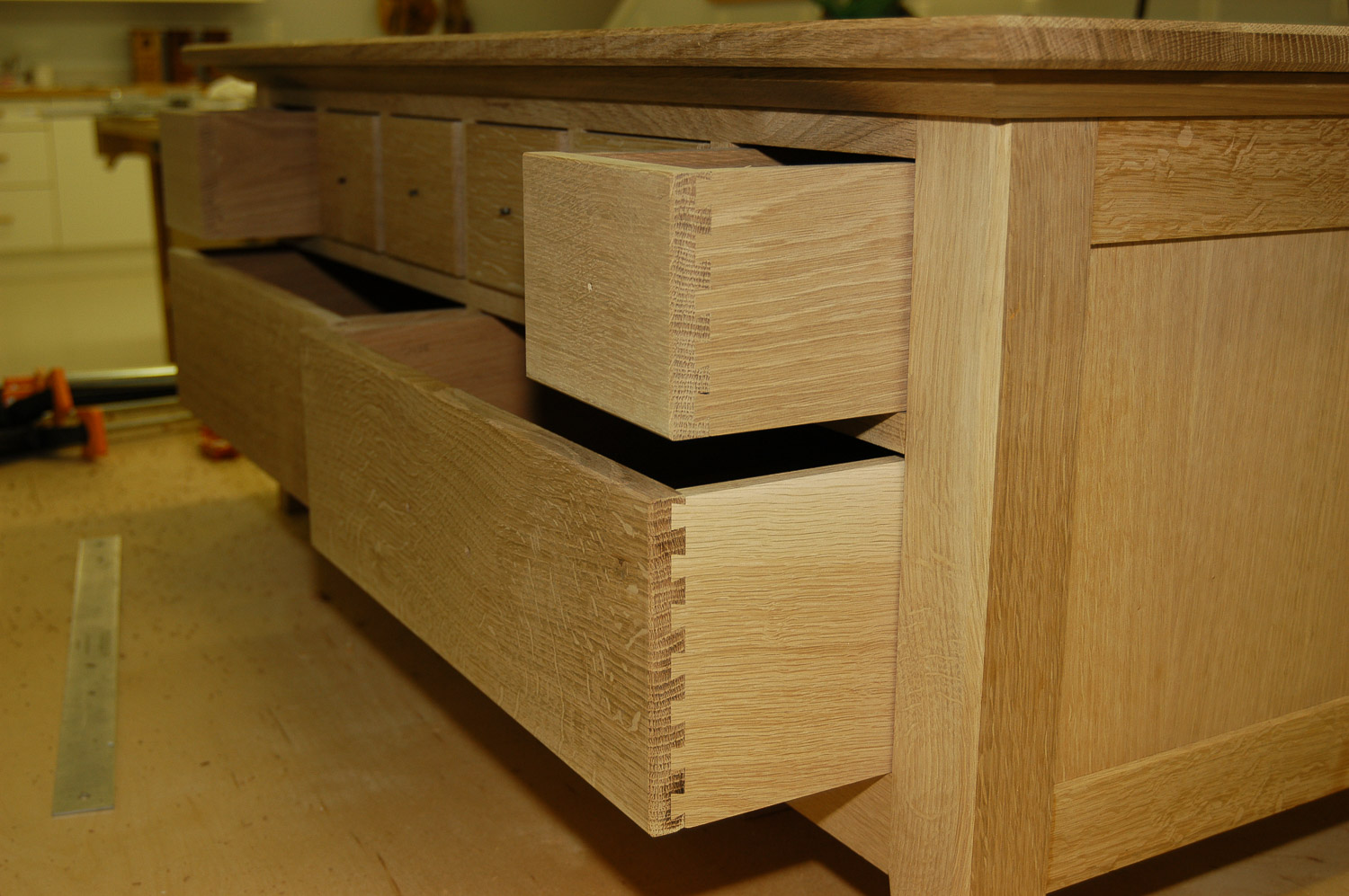 Coffee table under construction