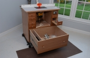 Router table showing drawer detail
