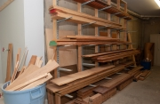 Wood storage rack