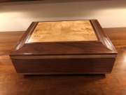 Jewelry box with inlay