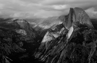 Storm Passing Half Dome